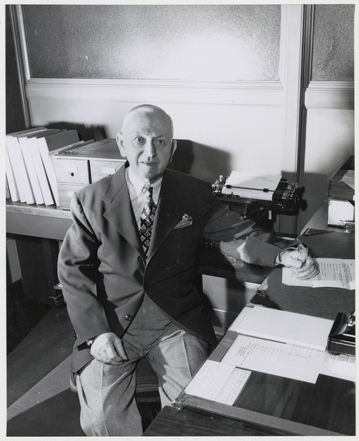 Photograph of National Archives Employee Mr. Newman F. McGirr at His Retirement
