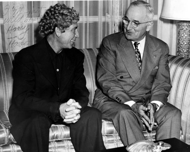 Harpo Marx Talks with President Harry S. Truman