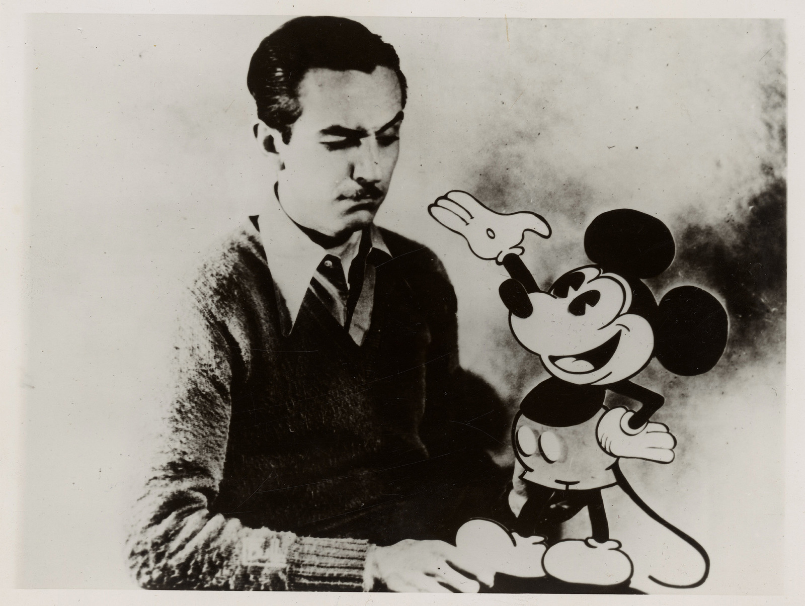Photograph of Walt Disney with Mickey Mouse - U.S. National Archives &  DVIDS Public Domain Search