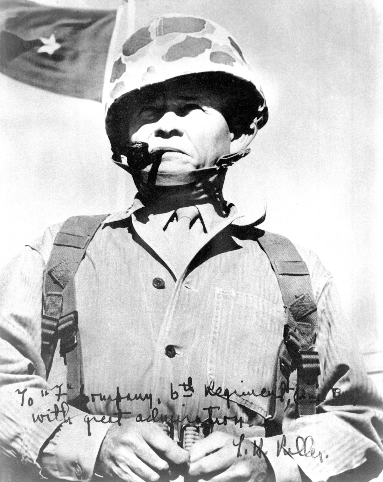 "Brigadier General Lewis B. ""Chesty"" Puller, USMC, Assistant Commander of the 1ST Marine Division"