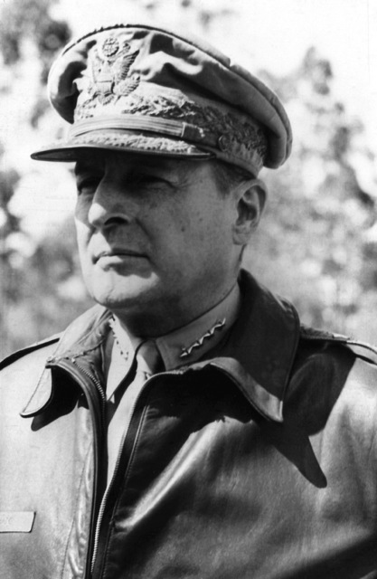 Portrait: US Army (USA) General (GEN) Douglas MacArthur. (Covered) (Exact date shot UNKNOWN)
