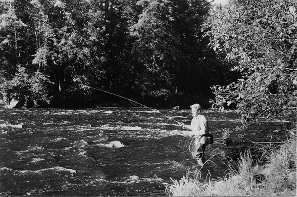 Photograph of Trout Fisherman on the Sturgeon River