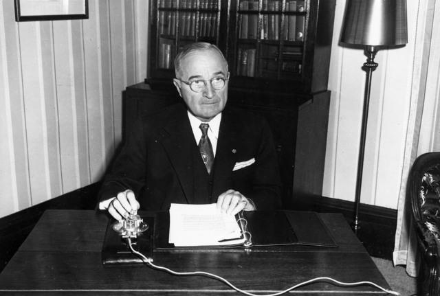 President Harry S. Truman at Home on Christmas Eve