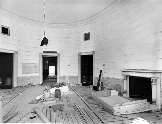 North View of the White House Blue Room