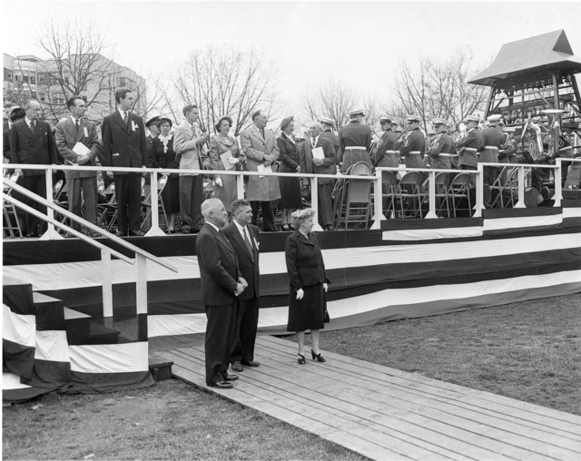 Photograph of President Harry S. Truman at Carillon Ceremony