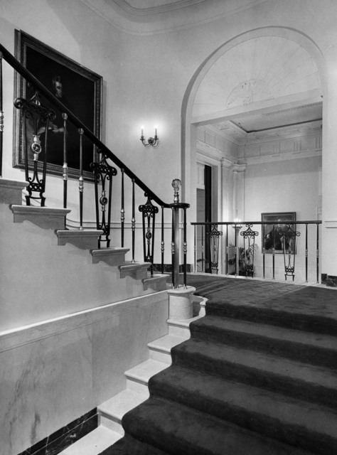 View of the Grand Staircase at the White House