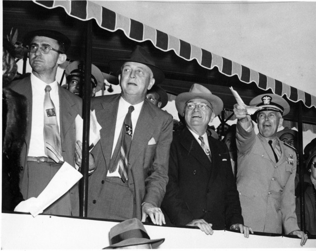 President Harry S. Truman and Others at Army-Navy Baseball Game