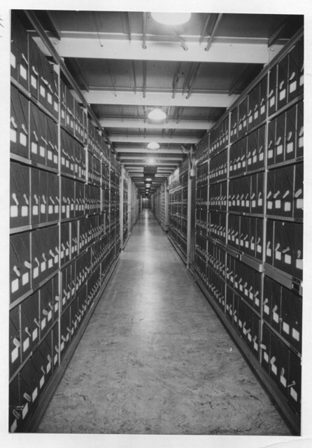 Photograph of National Archives Stack Area