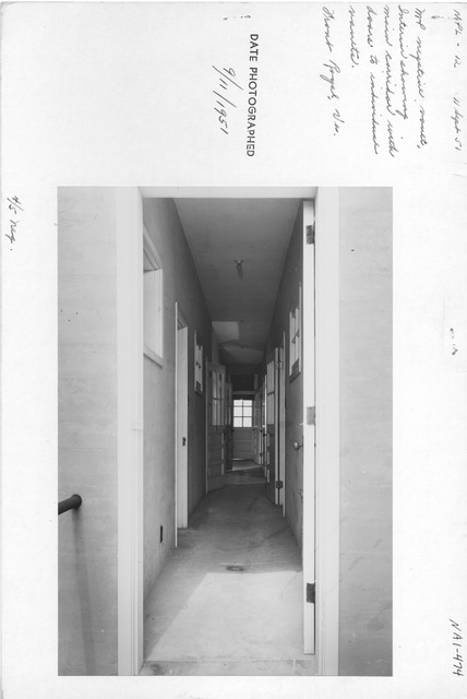 Photograph of Motion Picture Negative Vault, Interior View Showing Main Corridor with Doors to Individual Vaults, Front Royal, Virginia