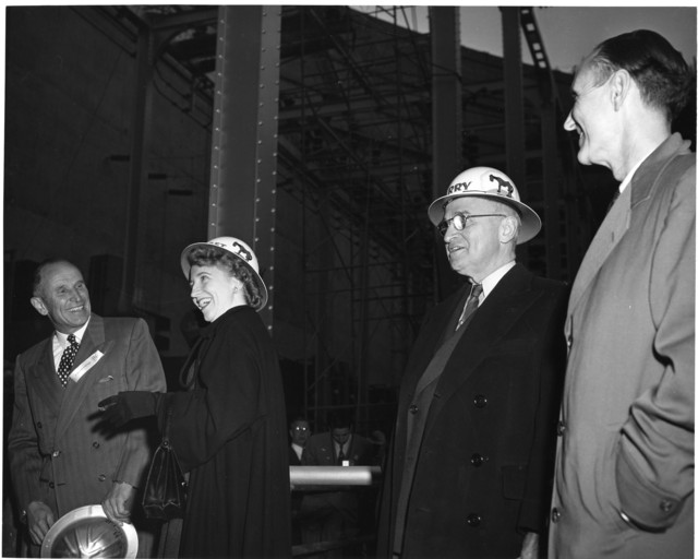 President Harry S. Truman Visits Hungry Horse Dam