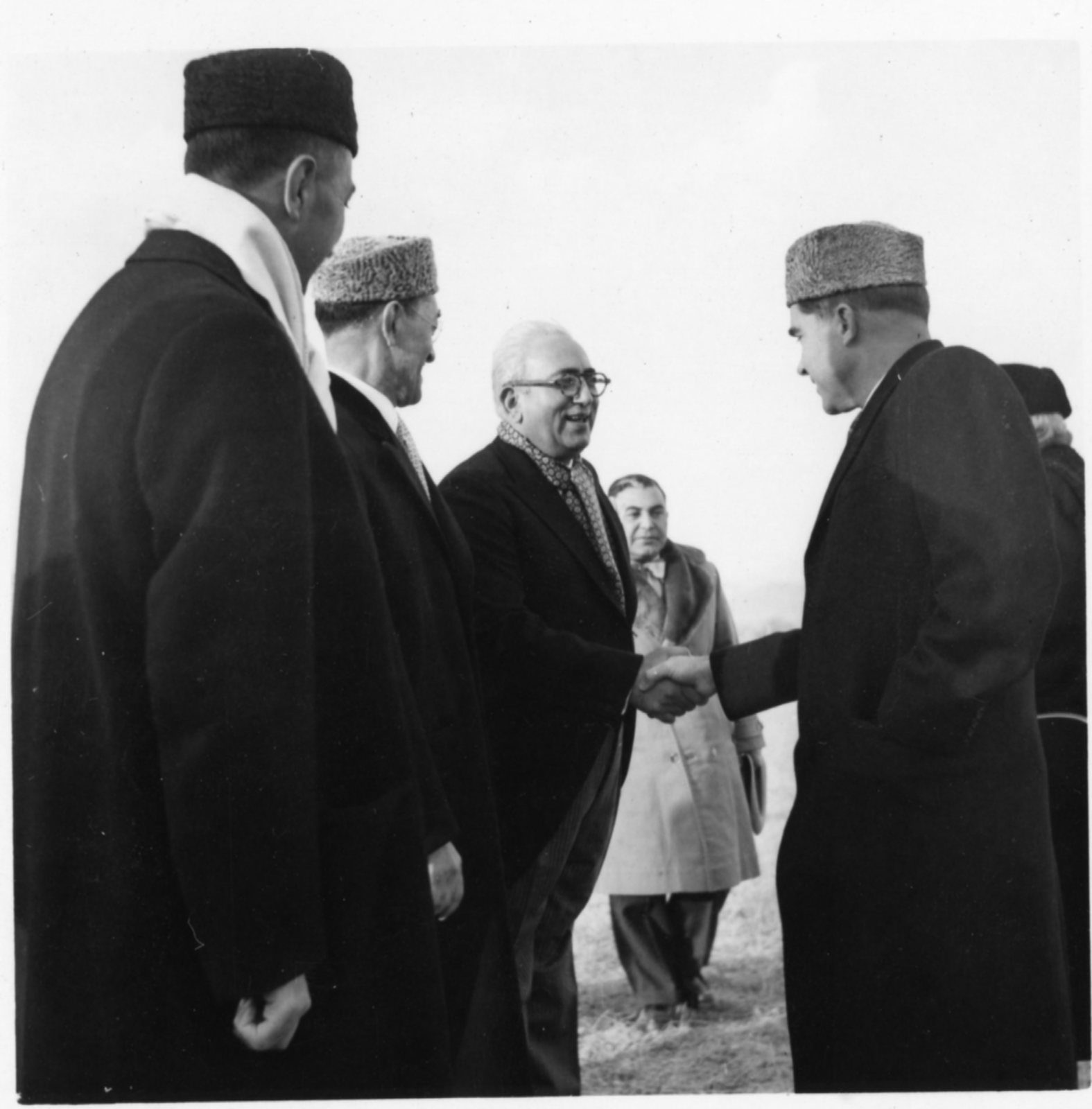 Vice President Richard Nixon shakes hands with officials in Afghanistan