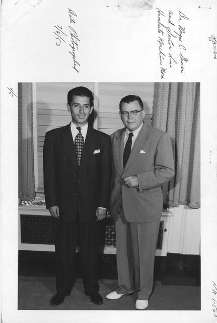 Photograph of Dr. Wayne C. Grover and Senor Luis Humberto Merchan Mora