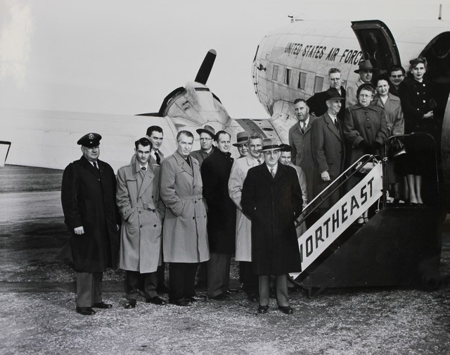 New Hampshire News Representatives before a Civil Defense Briefing