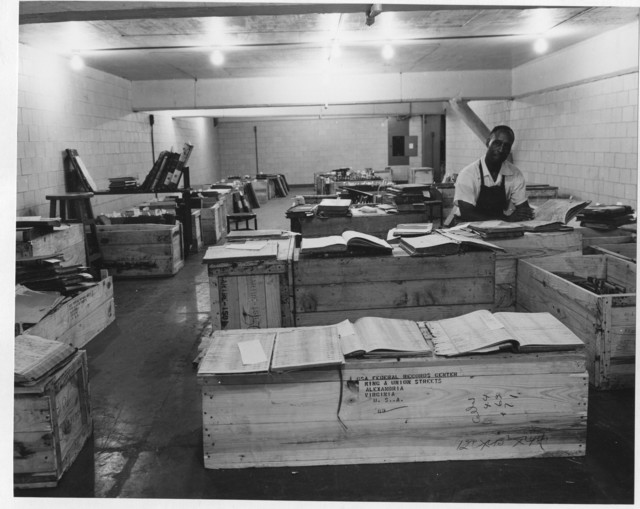 Photograph of the National Archives Stack Area