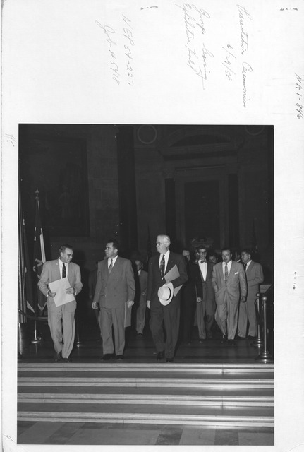Photograph of Presentation Ceremonies Group Leaving Exhibition Hall
