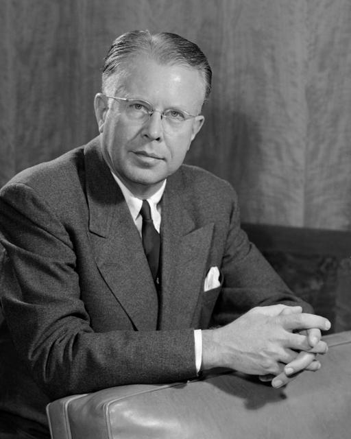 Portrait of Professor Ernest Orlando Lawrence, December 2, 1954. Morgue 1958-8 (P-12) [Photographer: Donald Cooksey]