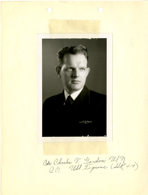 Commanding Officer Charles V. Gordon of the USS Tigrone