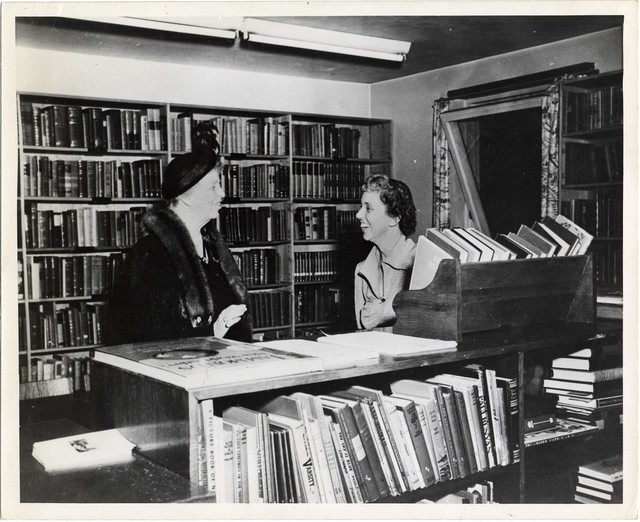 Eleanor Roosevelt Visits U.S. Information Center in Stockholm, Sweden