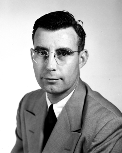 Formal portrait of Earl J. Hyde taken July 22, 1955. Morgue 1955-2 (P-1) [Photographer: Donald Cooksey]