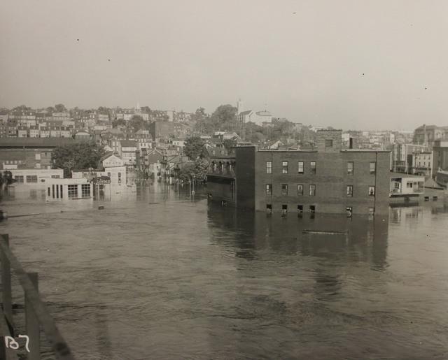 Flooding in Easton, Pennsylvania during Hurricane Diane