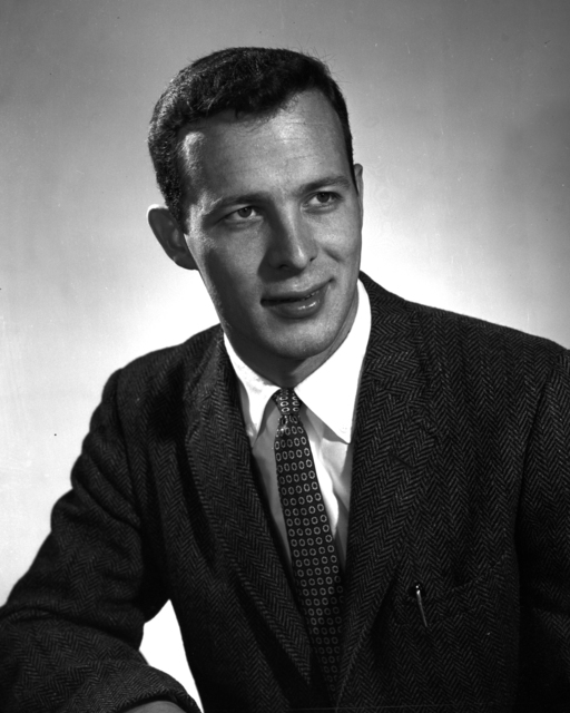 Formal portrait of Thomas Ypsilantis taken November, 1955. Morgue 1955-4 (P-1) [Photographer: Donald Cooksey]
