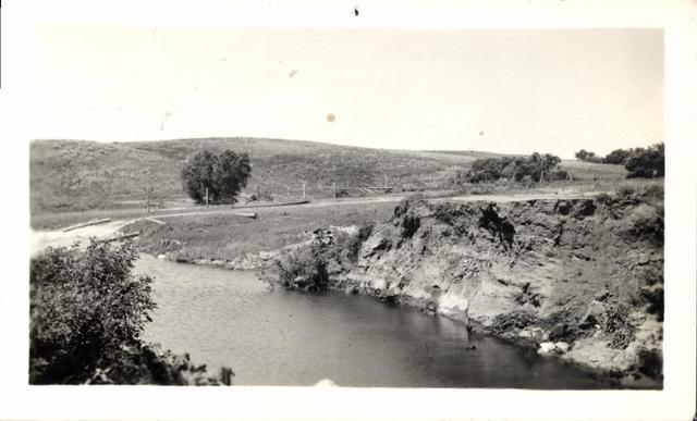 Landscape (Creek and Hillside)