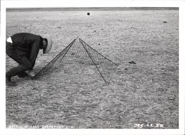 Man Setting Triangular Cage