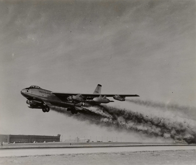 B-47 Taking off at Portsmouth Air Force Base