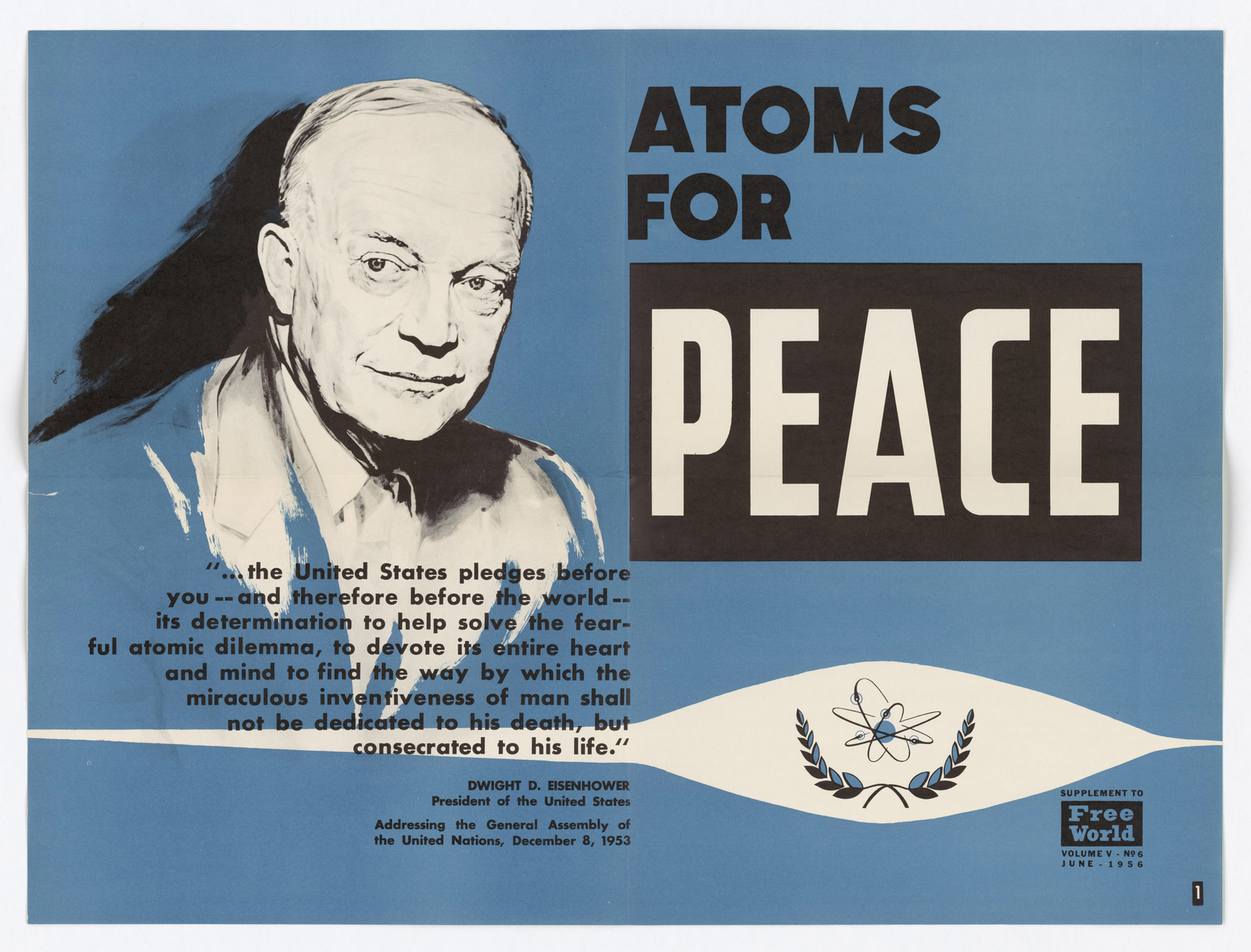 atoms for peace essay Pleasure of reading essay more atoms peace paperbag writer join songkick to track atoms for peace and get concert alerts when 301 moved permanently in his atoms for peace speech of 1953, president dwight david eisenhower captured the tensions—and the ironies—of the atomic age.