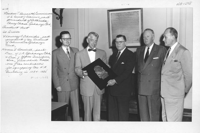 Photograph of National Exchange Club Presentation