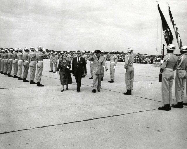 Congressman and Mrs. Merrow at Portsmouth Air Force Base Dedication Ceremonies