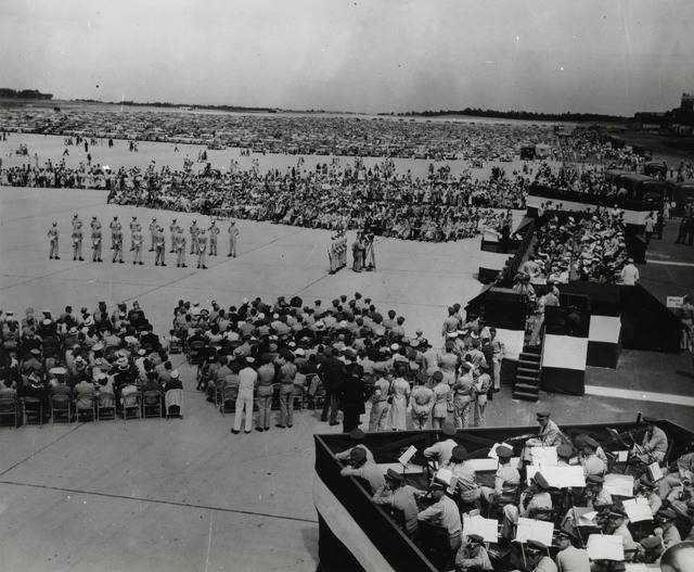 Exercises at Portsmouth Air Force Base Dedication Ceremonies
