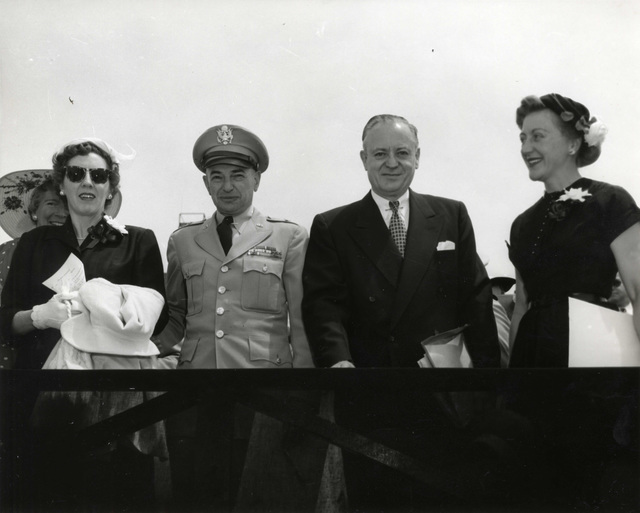 General and Mrs. Fleming and Senator and Mrs. Bridges at Portsmouth Air Force Base Dedication Ceremonies