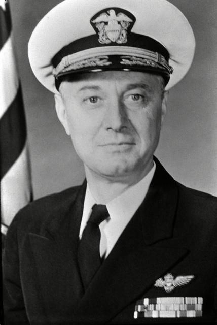 CAPT. Charles T. Booth II, USN (covered) CO, USS RANGER (CV-61) 1957-1958