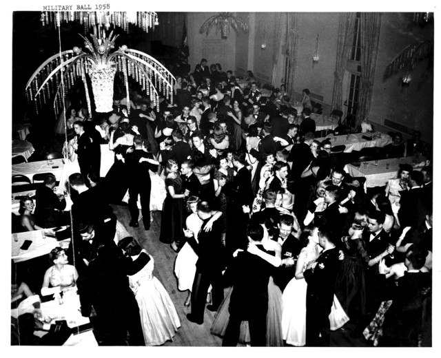Overhead View of the Dance Floor at Yale University's Military Ball