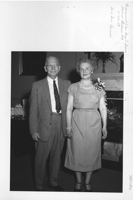 Photograph of Retirement of Mrs. Mary B. Brown, Fiscal Section, National Archives