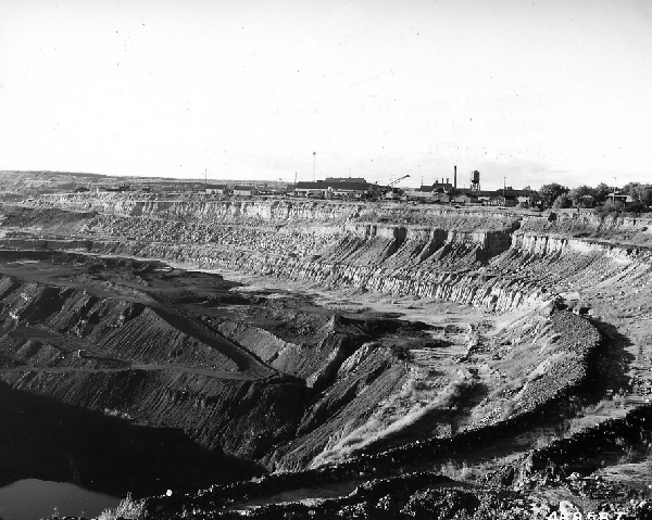 Photograph of an Open Pit Iron Mine at Hibbing, Minnesota