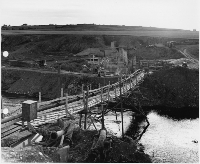 Water Supply System - Foot Bridge Carrying Pupcrete Pipeline to Damsite (12)