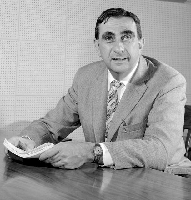 Edward Teller at his desk, taken October, 1958. cropped version. Morgue 1958-12 (P-5) [Photographer: Donald Cooksey]