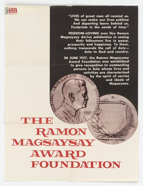 The Ramon Magsaysay Award Foundation (poster)