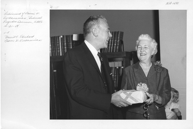 Photograph of Retirement of Naomi W. Vertanesian, Federal Register Division, National Archives and Records Service