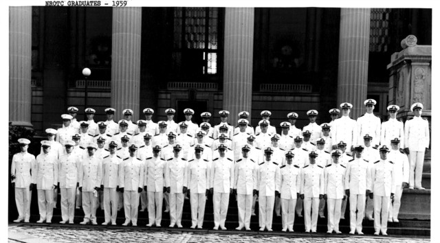 Yale University's Naval Reserve Officers Training Corps Class of 1959 Graduates