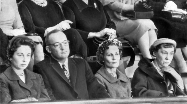 Mrs. John Eisenhower, John Eisenhower, Mrs. Richard Nixon and Mrs. Eisenhower Listening to President Dwight D. Eisenhower Delivering His State of the Union Message to a Joint Session of Congress