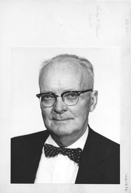 Photograph of Philip M. Hamer