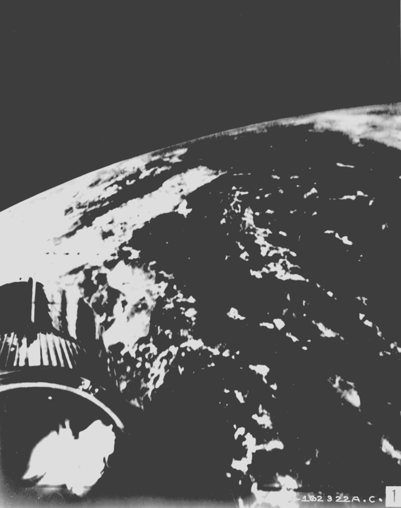 Photograph of Earth from an Air Force Atlas Intercontinental Ballistic Missile