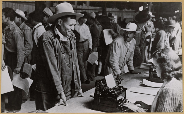 Mexican Farm Workers Who have been Accepted for Farm Labor in the U.S. through the Braceros Program
