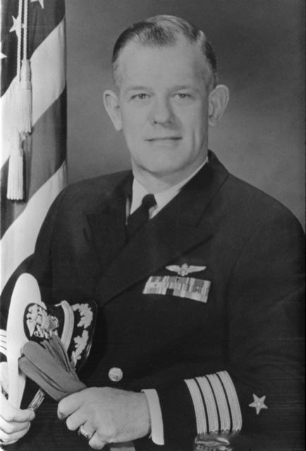CAPT. Don Gay, USN (covered) CO, USS RANGER (CV-61), 1960-1961