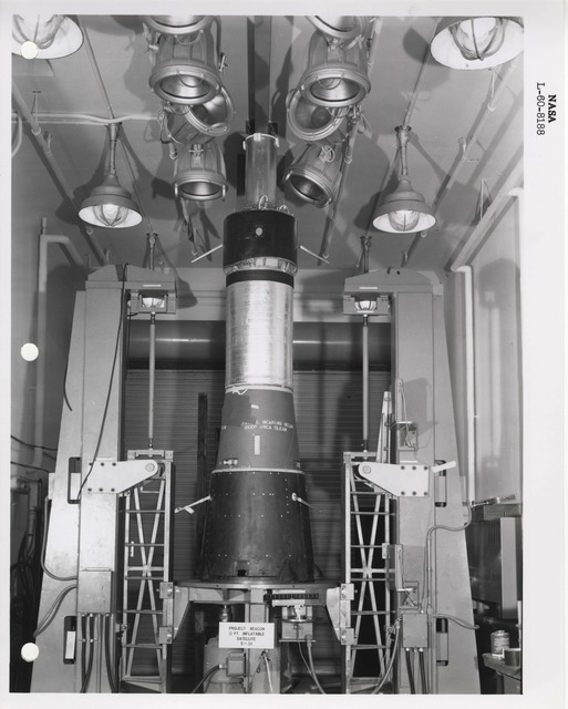 Photograph of a Rocket Part at the Langley Research Center in Hampton, Virginia