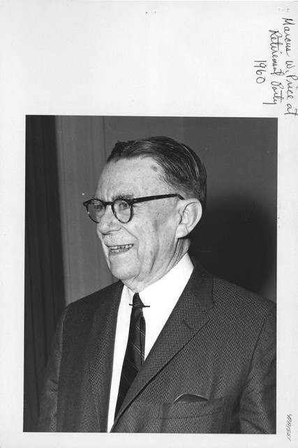 Photograph of Marcus W. Price at Retirement Party