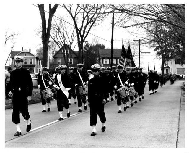 Yale University Naval Cadets Marching in a Parade